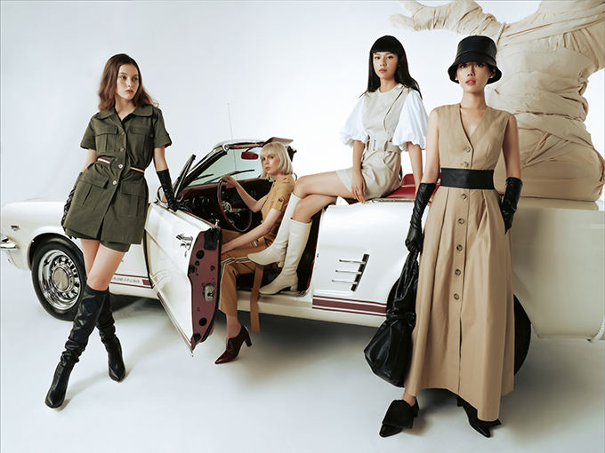 Sắc trắng, màu trung tính và màu xanh rêu đều được nhà mốt Việt khai thác hiệu quả trong các thiết kế Pre - Fall.
