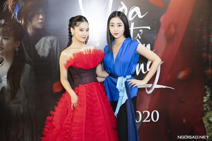 MC Liêu Hà Trinh hỗ trợ Hoàng Yến Chibi dẫn dắt sự kiện.