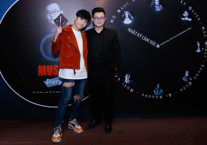 Diễn viên Gin Tuấn Kiệt đến chúc mừngNguyễn Minh Cường có sản phẩm mới, tiếp tục chinh phục đông đảo khán giả.