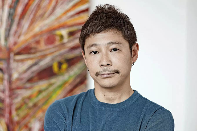 Tỷ phú Yusaku Maezawa. Ảnh: Nikkie.