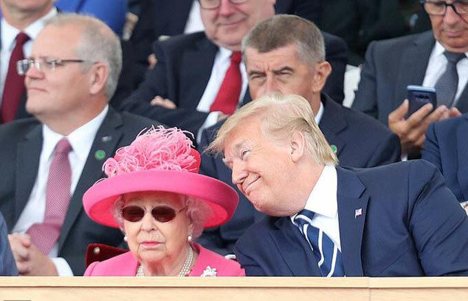 Tổng thống Mỹ dự sự kiện tại Anh với Nữ hoàng Elizabeth II năm 2018. Ảnh: PA.