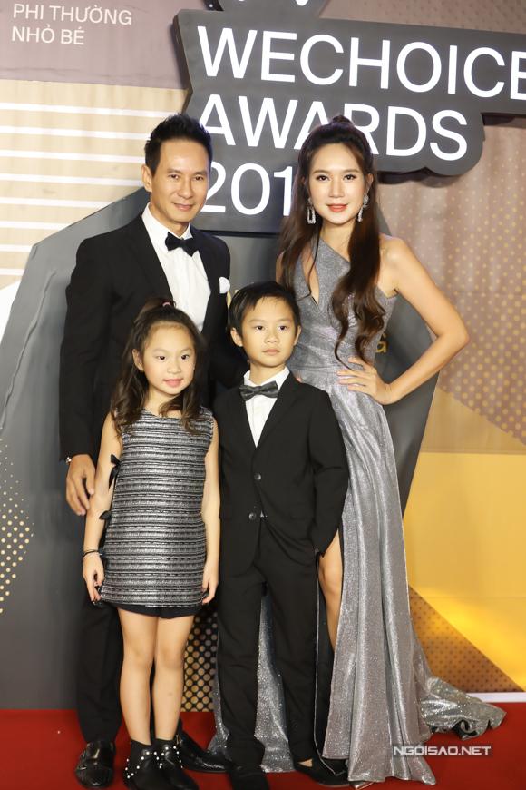 Vợ chồng Lý Hải - Minh Hải đưa hai con lớn dự chương trình.