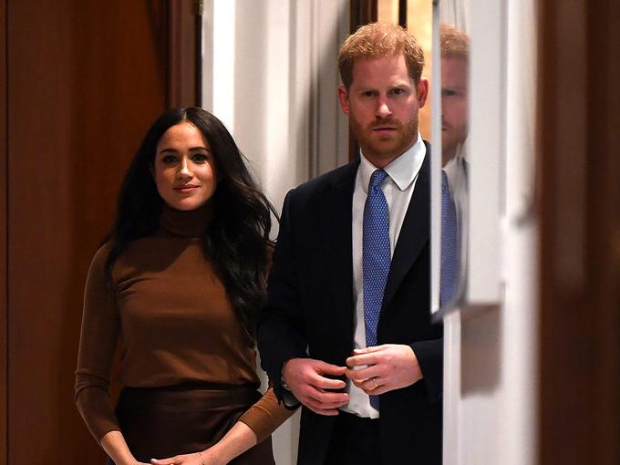 Meghan và Harry đến tòa nhà Canada House ở London hôm 7/1. Ảnh: UK Press.