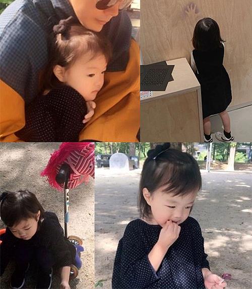 Kwon Sang Woo bên công chúa nhỏ.