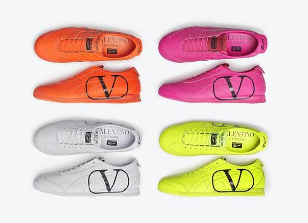 4 mẫu giày với màu sắc nổi bật được Valentino sẽ mở bán trên toàn thế giới.