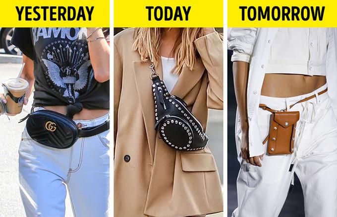 Belt bag hình ovalThắt lưng kèm túi hình oval mất dần vị thế vào mùa hè năm ngoái. Khi đó, giới mộ điệu chuyển sang đeo chéo vai, còn hiện tại thì nhiều stylist gợi ý phái đẹp sử dụng belt bagvới form khác đi, chẳng hạn như hình chữ nhật.