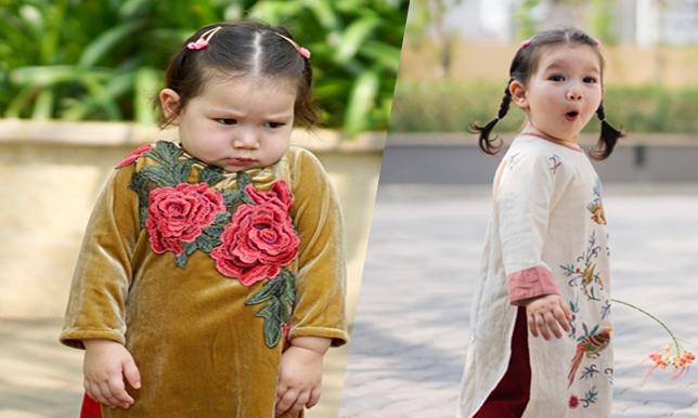Con gái Hà Anh xị mặt khi chụp ảnh