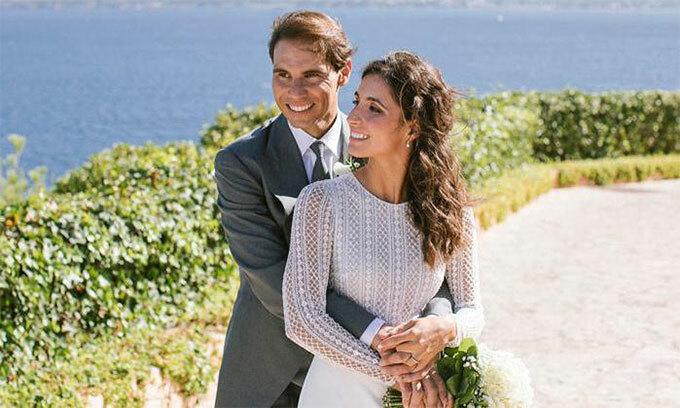 Nadal và bà xã Xisca trong ngày cưới giữa tháng 10.