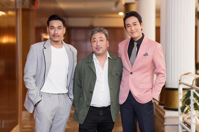 Hứa Vĩ Văn, đạo diễn Nguyễn Quang Dũng và Kiều Minh Tuấn (từ phải sang) dự họp báo giới thiệu phim hôm 30/12/2019.