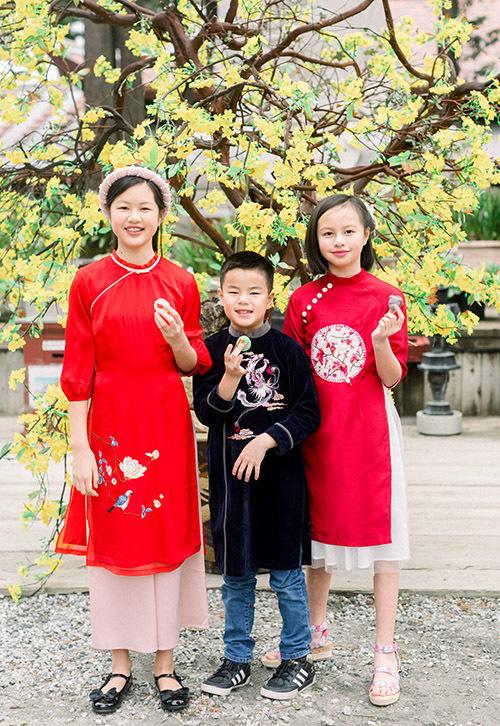 Ba con của Ngọc Thuý là Tâm An, Vân An và Minh Trường đều học giỏi, chăm ngoan khiến vợ chồng cô rất tự hào.