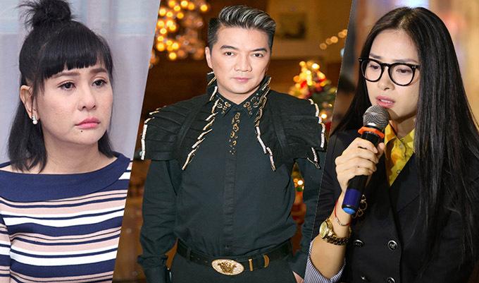 Từ trái qua: diễn viên Cát Phượng, ca sĩ Đàm Vĩnh Hưng và diễn viên Ngô Thanh Vân.