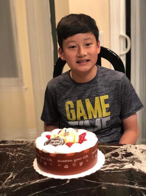 Bảo Nam - con trai đầu lòng của Quang Dũng và Jennifer Phạm - ngày tròn 12 tuổi.