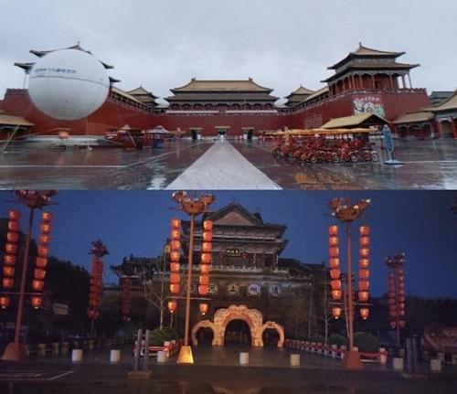 Phim trường Hoành Điếm vắng vẻ giữa tháng 2.