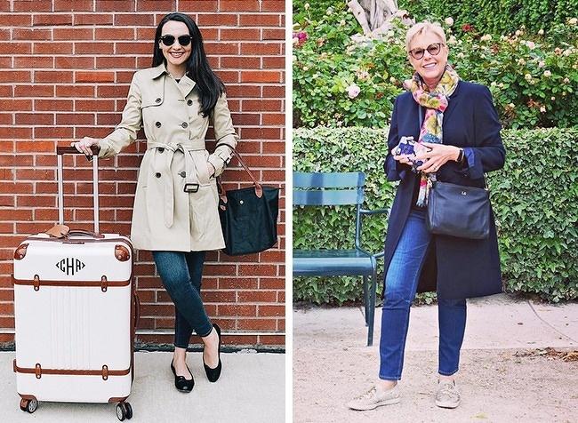 Trench coatĐây được coi là kiểu áo khoác mà mỗi cô gái nên sở hữu ít nhất một chiếc. Nó không bao giờ lỗi mốt và dễ dàng mix ăn ý cùng đủ loại trang phục khác. Cả khi người mặc bước qua ngưỡng 50, áo choàng dáng dài vẫn là lựa chọn tuyệt vời.