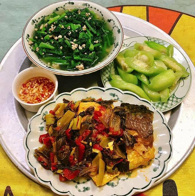 Mâm cơm người vợ ung thư nấu ăn hàng ngày cho chồng khiến chị em nể phục - Ảnh 10.