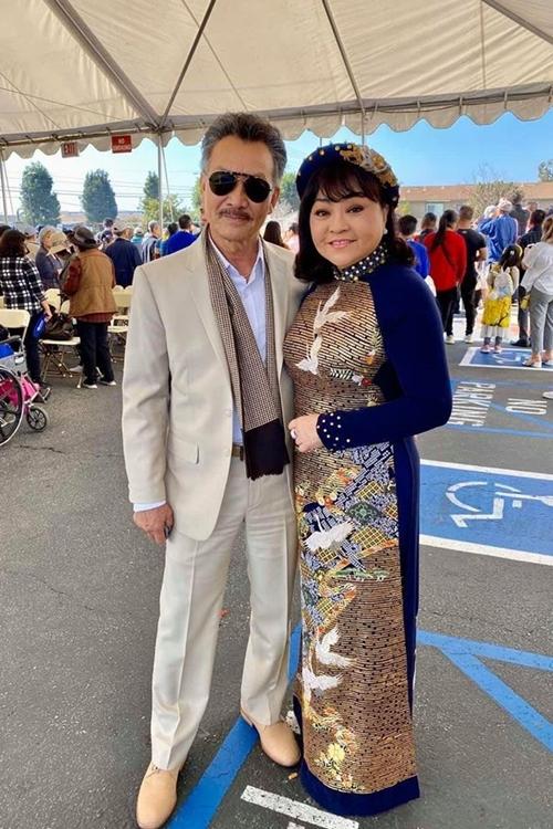 Hương Lan và chồng thường đồng hành trong nhiều hoạt động tại Mỹ lẫn Việt Nam.