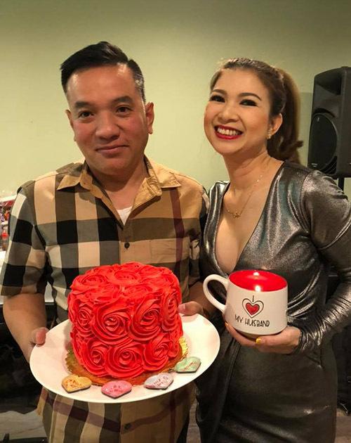 Phạm Thanh Thảo tổ chức sinh nhật cho chồng hồi tháng 1.