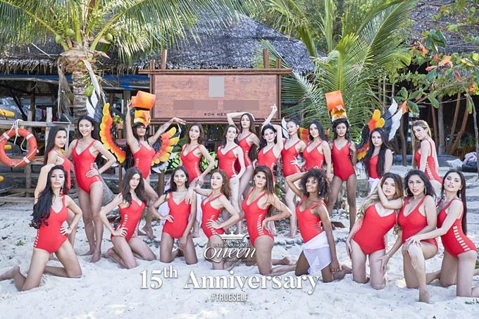 21 thí sinh di chuyển từ Pattaya sang đảo Phuket để thực hiện các hoạt động ghi hình, chụp ảnh áo tắm.