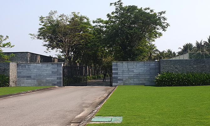 Khách sạn Nam Hải, nơi bệnh nhân 31 lưu trú. Ảnh: Sơn Thủy.