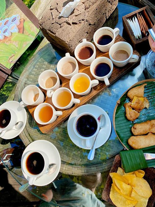 Người đẹp và gia đình tới tham quan một khu trang trại sản xuất cà phê chồn để tìm hiểu về cách thức làm ra loại cà phê đắt nhất thế giới. Minh Hằng được phục vụ một set cà phê với đủ vị như dừa, nhân sân, gừng, nghệ, vanilla... cùng 3 loại trà khác và một số đồ ăn kèm. Cô nàng còn được đích thân rang cà phê và nhìn thấy những chú chồn được nuôi tại vườn cà phê. Hạt cà phê sau khi được chúng ăn vào và thải ra ngoài sẽ được rửa sạch nhiều lần và phơi khô một tuần để tiệt trùng, trước khi rang xay, do đó, rất đảm bảo vệ sinh.