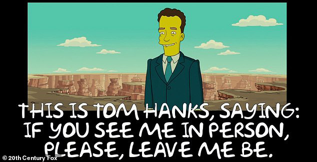 Tom Hanks trong tập phim năm 2007.