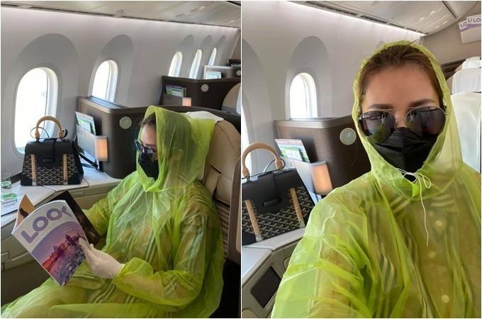 Người mẫu Quế Vân dùng áo nilon tiện lợi, đi găng tay cao su khi lên máy bay. Nhiều người mỉa mai và cho rằng cô làm quá, và nhìn cô như người ngoài hành tinh. Tuy vậy cô không quan tâm và nói: Ai nói điên mình xin nghe. Nhưng cứ điên mà bảo vệ sức khỏe cho cộng đồng và người thân mình xin nhận.
