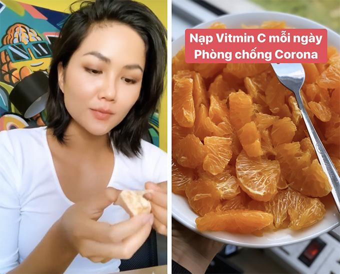 HHen Niê nạp vitamin C mỗi ngày để phòng nCoV