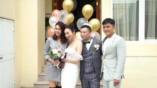 Đám cưới thời dịch của Trang Tư Mẫn chỉ có ít người tham dự.