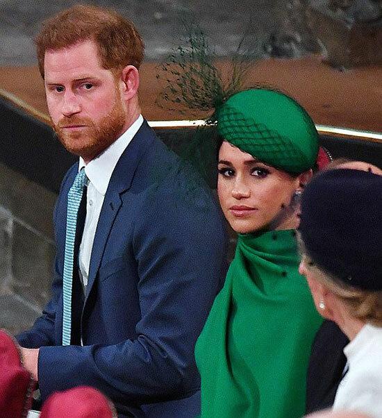 Vợ chồng Harry - Meghan dự ngày lễ của Khối thịnh vượng chung ở Tu viện Westminster hôm 9/3. Ảnh: AFP.