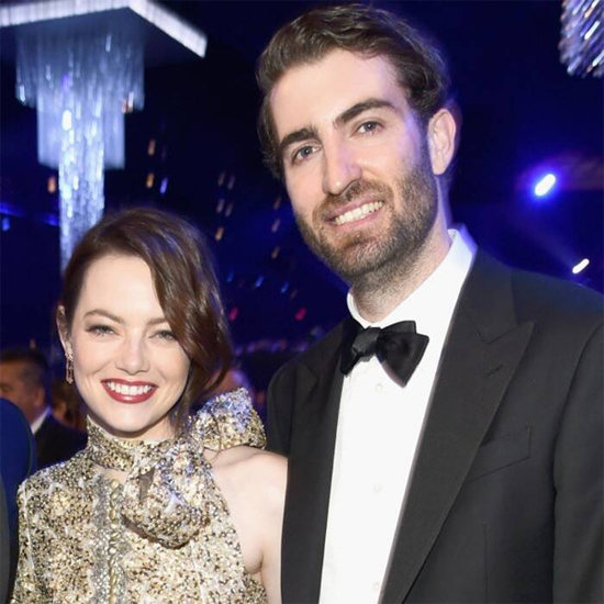 Emma Stone và vị hôn phu Dave McCary. Ảnh: E!News.