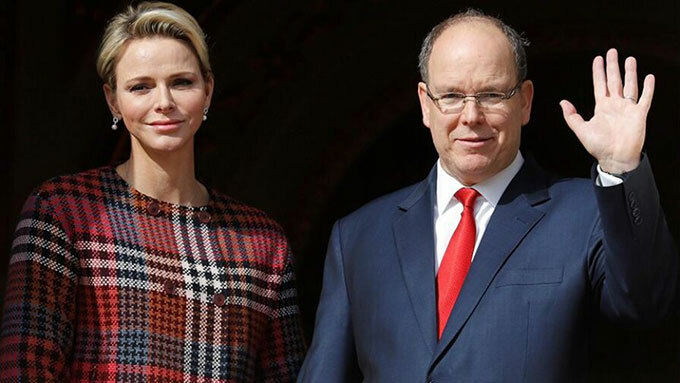 Thân vương Albert II và Vương phi Charlene của Monaco. Ảnh: Reuters.
