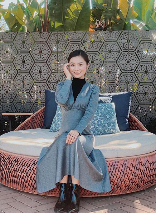 Nhan sắc của Diệu Hương ở tuổi 34.