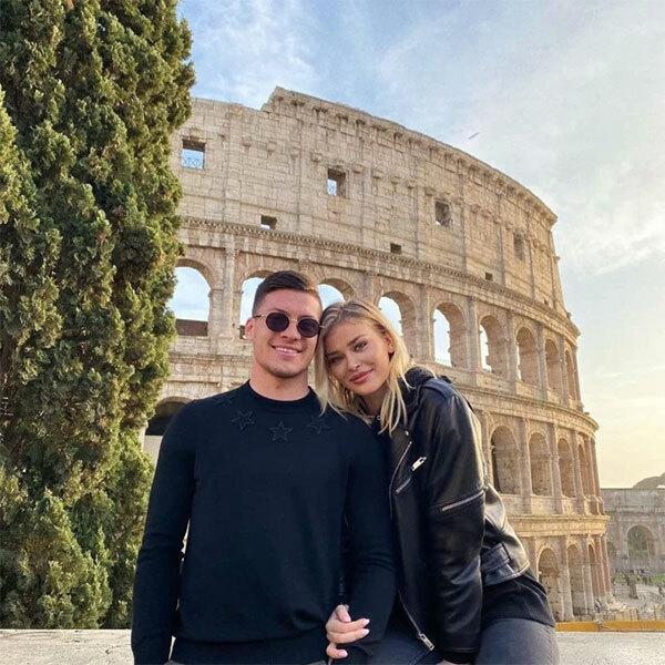 Luka Jovic và bạn gái hơn 7 tuổi