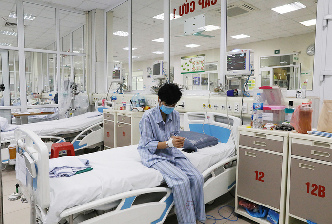 Bên trong phòng điều trị bệnh nhân Covid-19