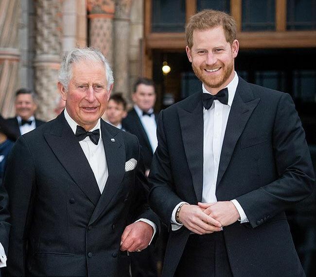 Thái tử Charles và Hoàng tử Harry dự sự kiệntham dự một sự kiện ở Bảo tàng Lịch sử Quốc gia để trao đổi về vấn đề môi trường hồi tháng 4/2019. Ảnh: Samir Hussein.