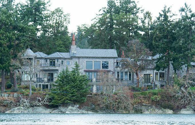 Biệt thự ở đảo Vancouver, Canada, nơi nhà Sussex đang trú ngụ. Ảnh: AFP.