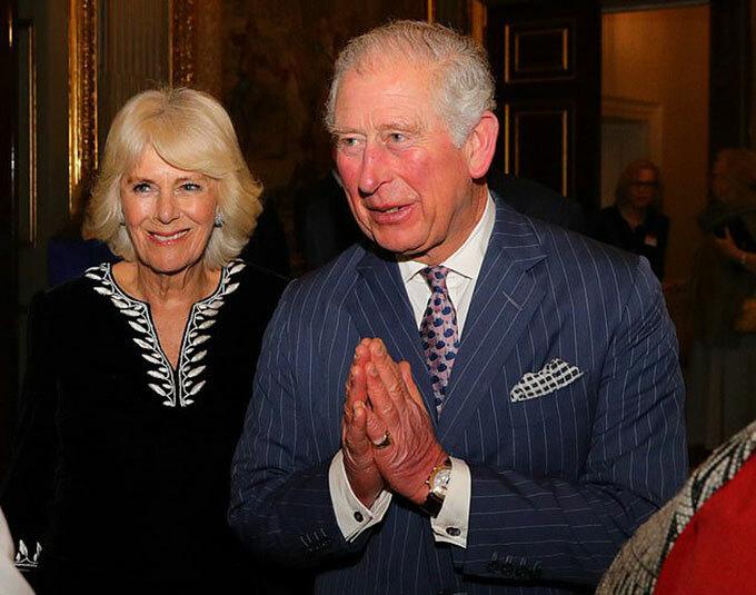 Thái tử Charles và bà Camilla dự lễ tiếp tân trong ngày lễ của Khối thịnh vượng chung tại London hôm 9/3. Ảnh: PA.