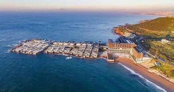 Tổ hợp biệt thự cao cấp ven biển, nơi Băng Băng có một biệt thự hiện bị phá hủy.