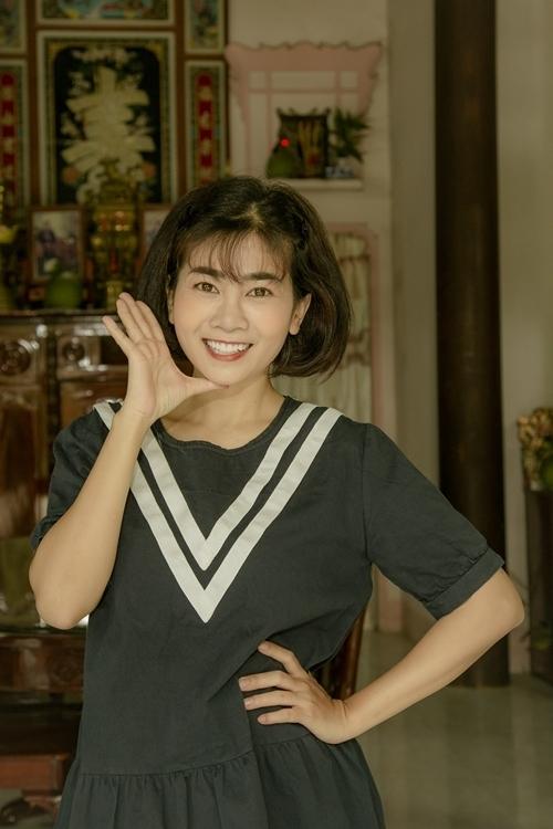 Mai Phương trên phim trường sitcom Con ông Hai Lúa tháng 3/2019.