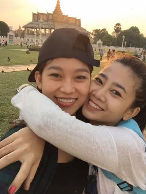 Trương Bảo Như và Mai Phương trong một lần đi chơi chung.