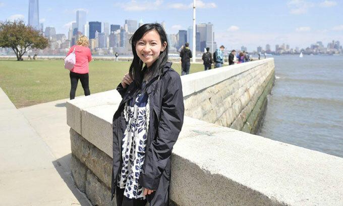 Phương Trinh hiện là bác sĩ khoa Nhi tạiBệnh viện New York-Presbyterian ở thành phố New York. Ảnh: NVCC.