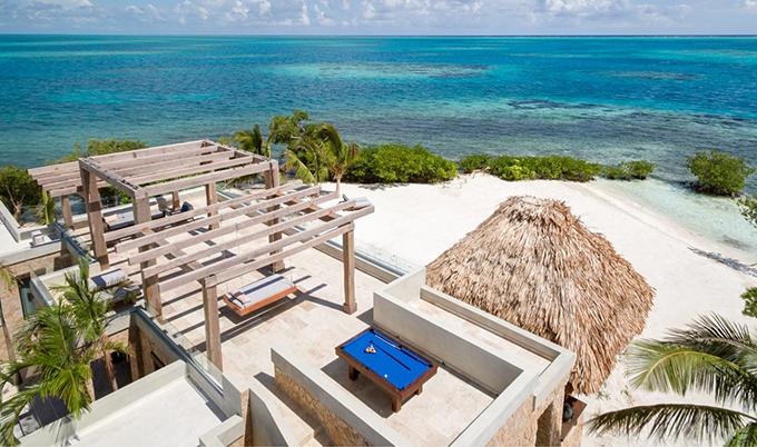Công trình được xây dựng trên đảo tư nhân Gladden, Belize. Ảnh: SCMP.