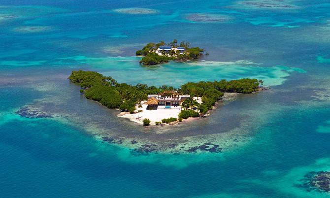 Hòn đảo tư nhânGladden ở Belize, một quốc gia Trung Mỹ. Ảnh: SCMP.