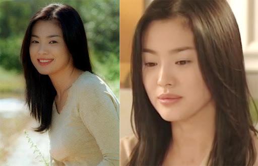Song Hye Kyo khi đóng Trái tim mùa thu năm 2000.
