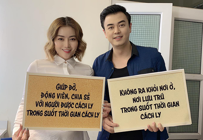 Thanh Hương và Tuấn Tú tại hậu trường phim Những ngày không quên.