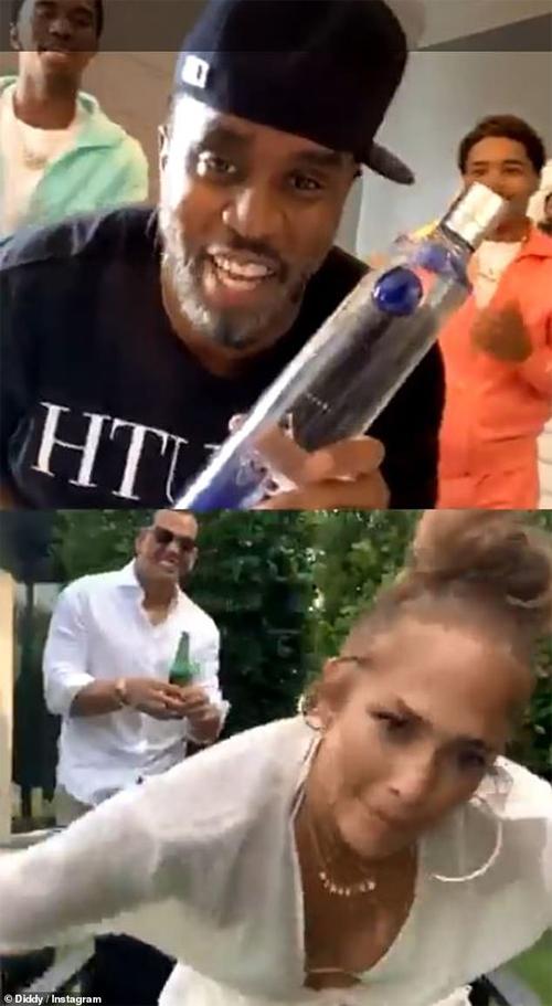 Diddy mời Jennifer Lopez tham gia chương trình Dance-a-Thon qua Instagram Live.