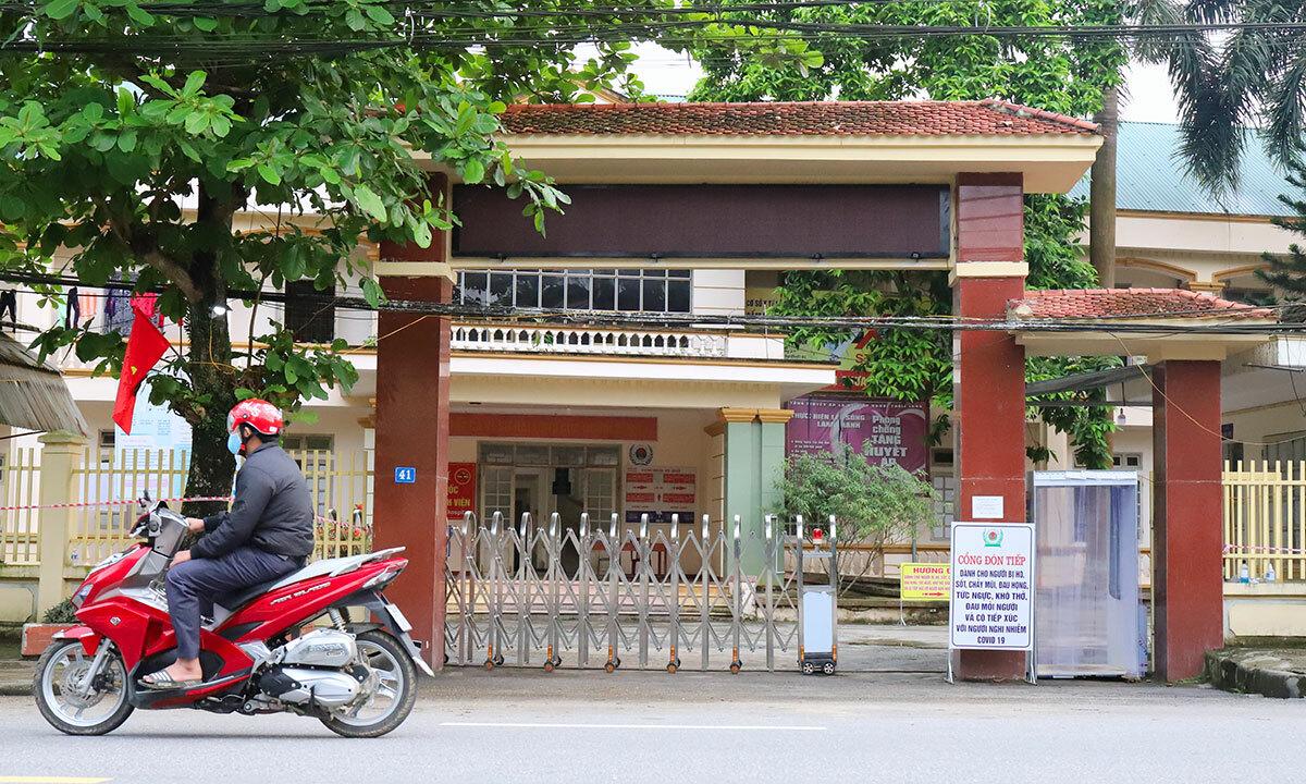 Bệnh viện Đa khoa Khu vực cửa khẩu Cầu Treo, nơi nam nhân viên bar đang điều trị nhiễm nCoV. Ảnh: Hùng Lê