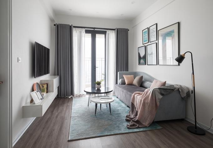 Căn hộ 70 m2 dành cho cặp vợ chồng trẻ ở Xuân Đỉnh, Hà Nội, được cải tạo trong vòng một tháng vào năm 2018 bởi kiến trúc sư Vũ Đinh Minh thuộc MVdesign.