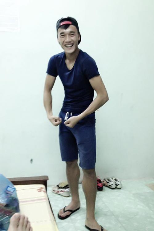 Thủ môn Bùi Tiến Dũng với thân hình mỏng cơm ở tuổi teen. Thời chưa dậy thì của các 'hot boy' bóng đá Việt
