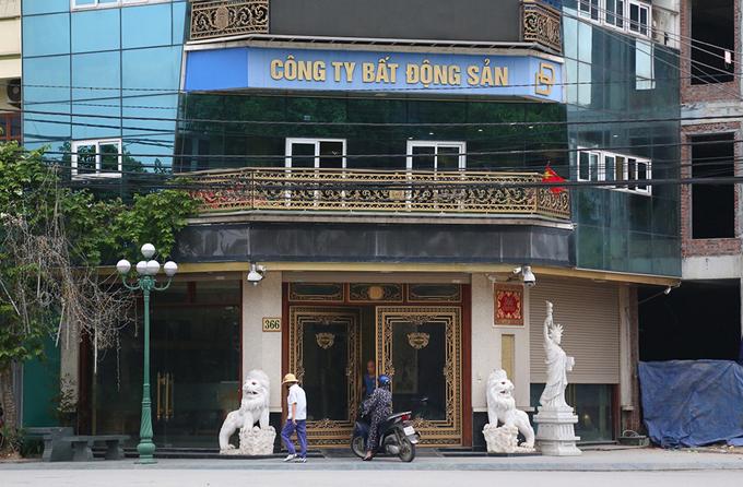 Trụ sở công ty của vợ chồng Đường - Dương ở thành phố Thái Bình. Ảnh:Phạm Dự.
